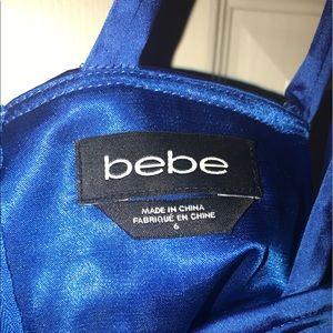bebe Dresses - Blue silk Bebe dress